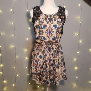 Bar III xs watercolor print mini dress